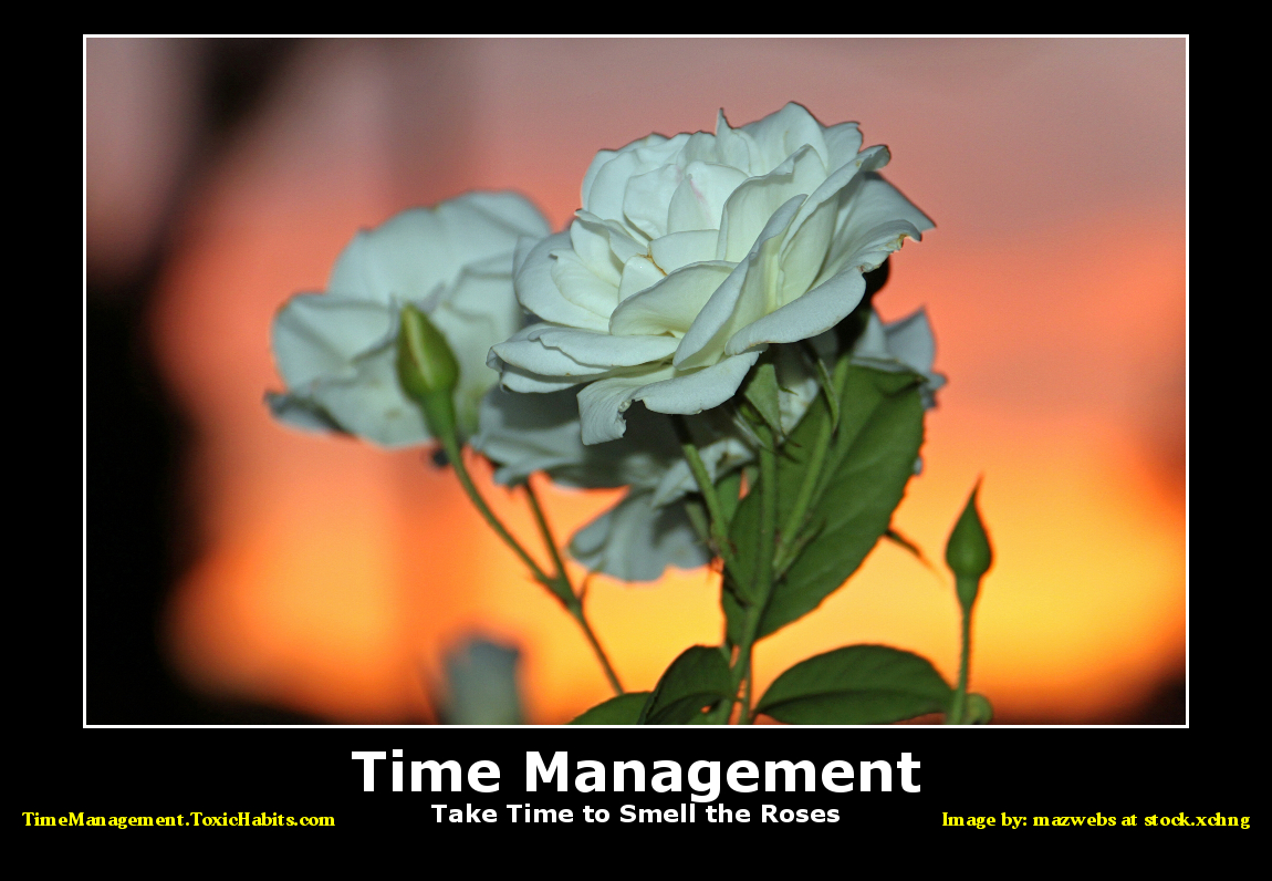 Time Management - Take Time to Smell the Roses
